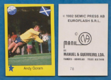 Scotland Andy Goram Glasgow Rangers